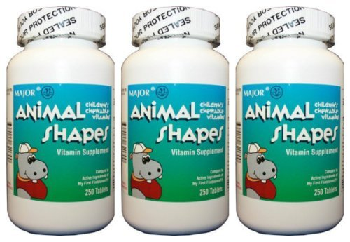 - Chewable-vite TAB MMP 250@ by Major