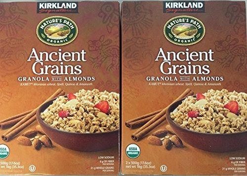 Kirkland Signature Nature's Path Organic Ancient Grains with Almonds (Super Value Two Pack)