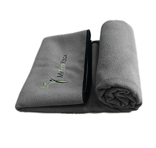 Extra Large Hot Yoga Towel | 2.5 x 6.25 feet | Eco Friendly | Ultra Absorbent | Microfiber: 80% Recycled Polyester 20% Nylon | Machine Washable | Made to Fit XL MyEcoYoga Mat | MyEcoYoga Towel (Gray)