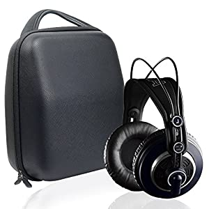 Headphones Travel and Protection Case for Audio-Technica ATH-M50x, ATH-M50, M70X, M40x, M30x, M20x, M50xMG; Sennheiser HD800, HD598; AKG K701, Q701; Beyerdynamic DT880, DT990, DT770, accessories pouch