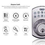 Electronic Deadbolt Door Lock, Keypad Deadbolt Lock with 1-Touch Motorized Locking, Single Cylinder & Back-lit Keypad Lock | Easy to Install for Locker, Office & Home, Satin Nickel-EKLP1A