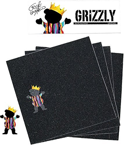 Grizzly Gustavo署名グリップSquares Packスケートボードグリップテープbyグリズリーグリップテープ