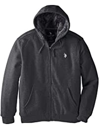 U.S. Polo Assn. Men's Sherpa Lined Full Zip Fleece Hoodie