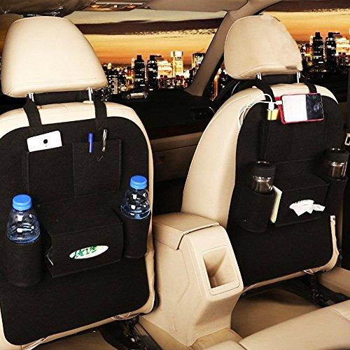 Back Seat Car Organizer + Car Pocket Organizer Leather For Kids ...