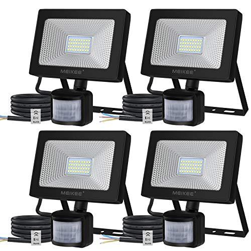 MEIKEE LED Motion Sensor Flood Lights, 30W Security Lights with Motion Sensor 3000 Lumen SMD IP66 Waterproof 12m PIR…