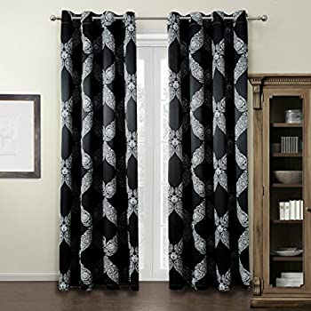Soft And Smooth Printed Energy Saving Blackout Curtains For Living Room /  Bedroom (Grommet Window Part 56