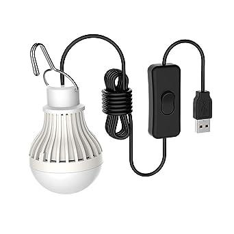 Falale 5W Bombilla LED Portátil Tienda de Campaña USB Luz de Emergencia para Cámping Excursionismo Pescar
