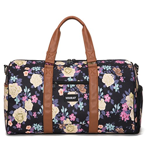 vooray-trepic-21-weekender-duffel-bag-with-shoe-pocket-macana-floral-black