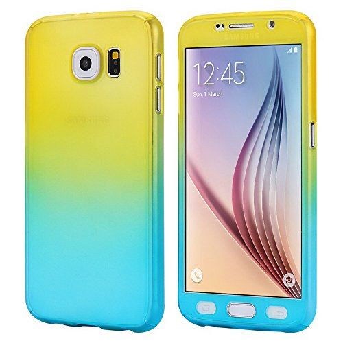 360 Degree Hard Plastic Case for Samsung Galaxy S6 Edge (Gold) - 9