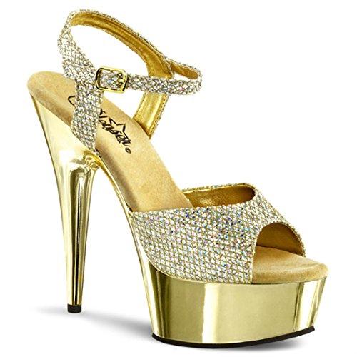 Gold dorado para vestir de de Gold Heels sintético Sandalias material Perfect mujer zZwFWvfq