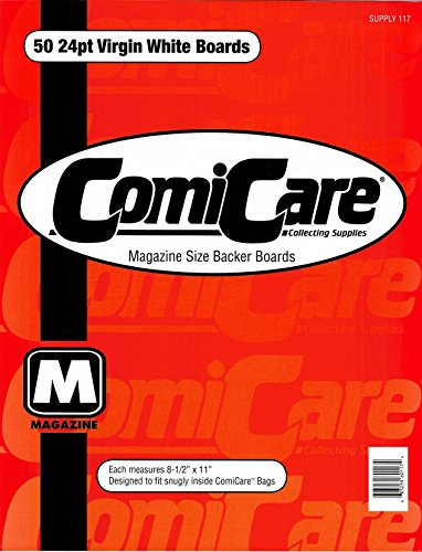 Magazine Size Backer Boards 50 Count 24pt Virgin White by Comic Care