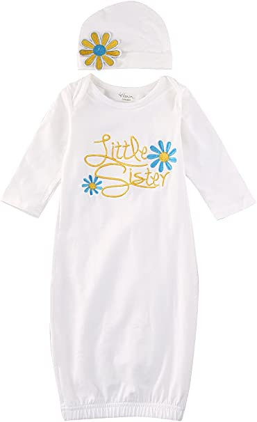 baby girl clothes baby girl gift Baby Sister baby gown baby shower gift Sibling shirts Boho tribal coming home gown