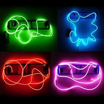 SODIAL(R) Neon leuchtende Strobe Elektrolumineszenz Draehte (El ...