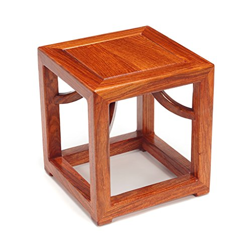 - ZHANGLIXIANG Stool Small Stool Stool Stool Stool Ming Style Antique Stool Solid Wood Stool Creative to Wear Shoes Stool (28 28 30cm) stools