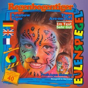 Eulenspiegel Face Paint Make-up Kit Rainbow Tiger - By Eulenspiegel by Eulenspiegel