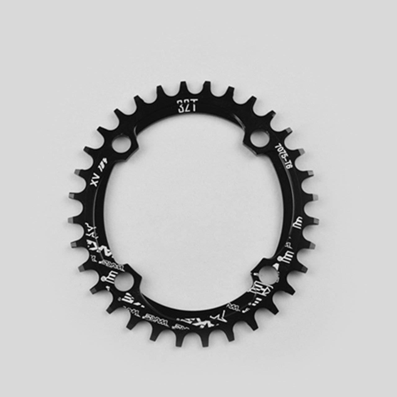 Jasnyfall Fahrrad Schmale Breite Oval Kettenblatt Kettenblatt 104mm BCD Kurbel 32 T 34 T 36 T 38 T CNC Aluminiumlegierung Kettenblatt f/ür MTB Fahrrad