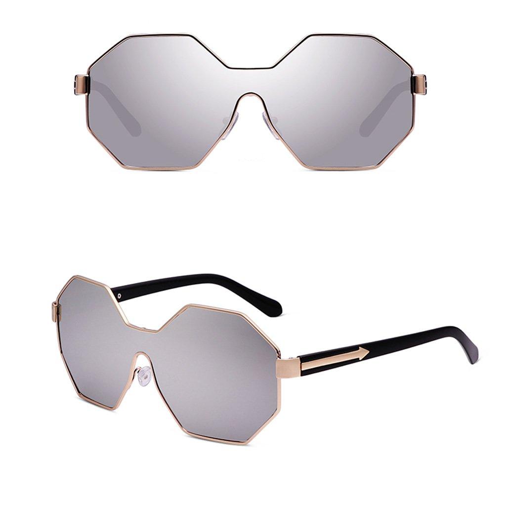 WANGXIAOLIN Gafas : De Plata Sol Poligonales Con Plata) Montura ...