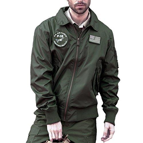 Vuelo agua Hombres Luz Abrigos vuelo Chaqueta 45 repelente Verde CWU Impermeable de chaqueta dinamico Seibertron P de wfI1qOO7