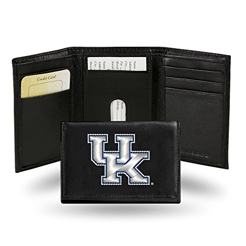 Rico Kentucky Wildcats Embroidered Black Leather Trifold ()