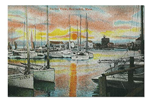 Nantucket, Massachusetts - Sunrise in the Harbor (20x30 Premium 1000 Piece Jigsaw Puzzle, Made in USA!)
