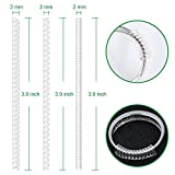 Anpro Set of 15 Ring Size Adjuster with 3 Sizes Clear Ring Sizer Resizer Fit for Loose Rings(2mm/3mm)