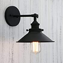 A Permo Vintage Industrial Metal Wall Sconce Lighting 180 Degree Adjustable Wall Lamp