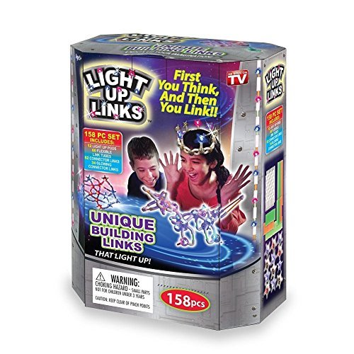 Light Up Building Links Flash Glow - Fun Model Craft Projects 158-Piece (Interlocking Link Necklace)