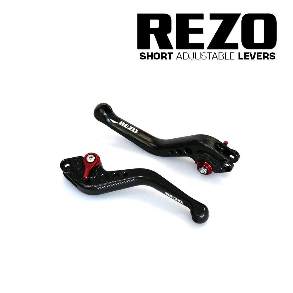 Rezo rez-setv2 –  0-blk-0035 V2 corto regolabile leve moto CNC per Kawasaki Z750 2007 –  2012, nero China REZ-SETV2-0-BLK-0035
