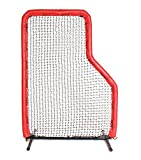 7x5 Armor JR Baseball Pitching L-Screen with RED Padding