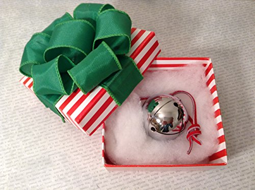 Polar Sleigh Bell in Hand Folded Origami Box Express From Elf Works (Polar Express Sleigh Bell)