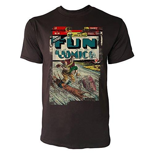 SINUS ART® Fun Comics Herren T-Shirts braunes Cooles Fun Shirt mit tollen Aufdruck