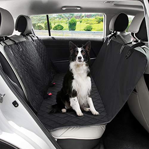 Beinear Funda de asiento de coche para perro, impermeable, antideslizante, para perros, ajustable para coches, SUV, como protector de asiento de coche, accesorios de viaje, hamaca, maletero de coche