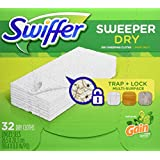 Swiffer Sweeper Dry Sweeping Cloth Refills, with Gain scent, 32 Count (packaging may vary)