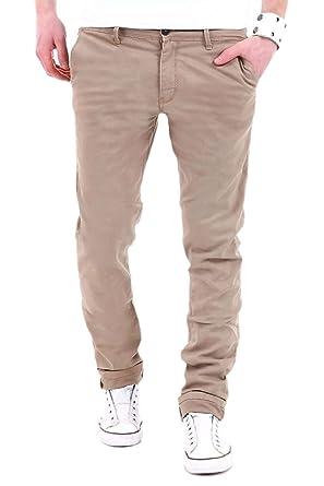 pantalon C homme Slim chino W31L32 beige 01 Behype paw6qSPx