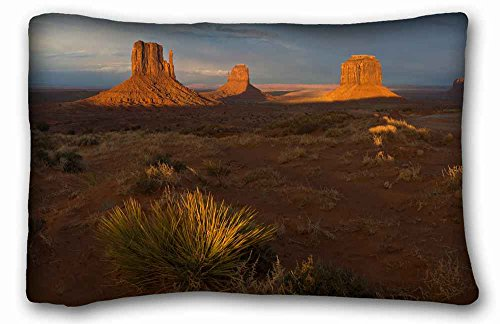 "Soft Pillow Case Cover ( Nature desert evenings vegetation images shade canyons ) Pillow Covers Bedding Accessories Size 20""X30"" suitable for X-Long Twin-bed"