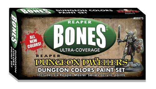 Reaper Mini Dungeon Dwellers Colors Set (6) 09975 Master Series Acrylic Paint