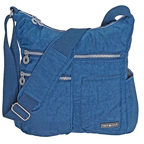 NeatPack Crossbody Bag for Women with Anti Theft RFID Pocket, - Bag Bottle Blue