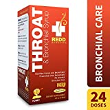 Redd Remedies – Throat & Bronchial Syrup, Helps Soothe a Cough and Irritated Throat, Honey, 4 oz (24 Doses)
