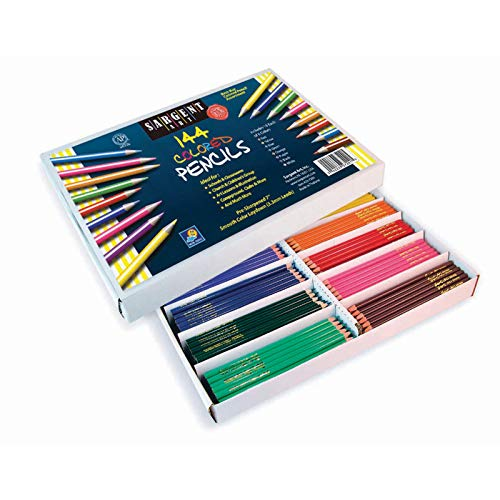 Sargent Art 144-Count Colored Pencil Class Pack, Best Buy Assortment, 22-7201