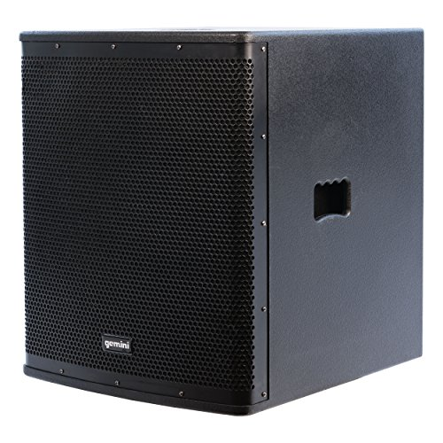 Gemini ZRX Series ZRX-S18P 18-inch Professional Powered Subwoofer with 1,600 Watts Continuous Class D Digital Power by Gemini
