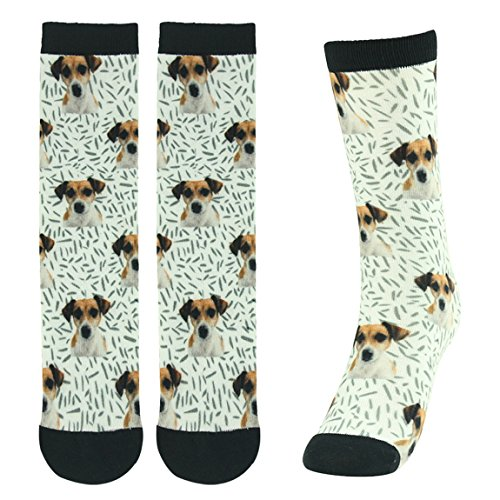 Women's Socks Print, J'colour Novelty Dog Print Funny Design Cute Patterns Holiday Crew Casual Socks 1 - Digital Pattern