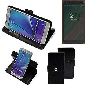 360° Funda Smartphone para LG Electronics Google Nexus 5 (2015), negro | Función de stand Caso Monedero BookStyle mejor precio, mejor funcionamiento - K-S-Trade