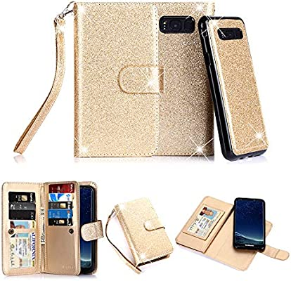 online store 9596a 7be4a TabPow Galaxy S8 Plus Case, 10 Card Slot - [ID Slot] Wallet Folio PU  Leather Case Cover With Detachable Magnetic Hard Case For Samsung Galaxy S8  Plus ...