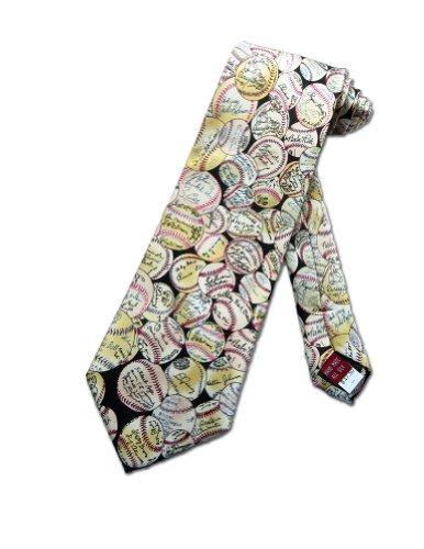 Museum Artifacts Mens Baseball Autographs Necktie - Beige - One Size Neck Tie Artifacts Baseball