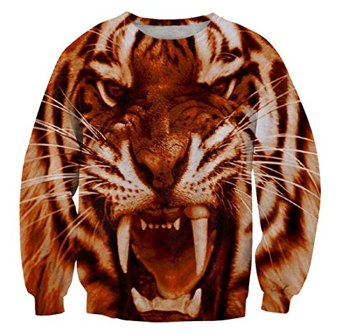 MLG Men's Swag Tiger Print Long Sleeves Jacket Jumpers Red