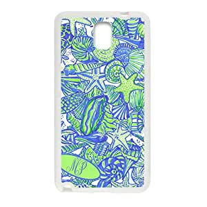 Fresh simple starfish and shell pattern Cell Phone Case for Samsung Galaxy Note3