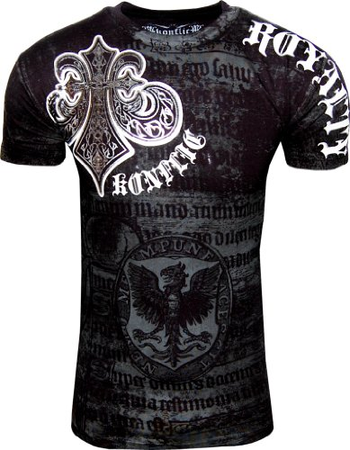 0ca0b2f1 Konflic NWT Men's Saint's Royalty Graphic Designer MMA Muscle T-shirt ...