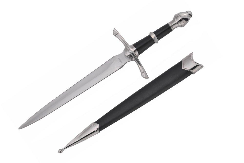 Wuu Jau Co H-5921 Medieval Dagger with Black Scabbard