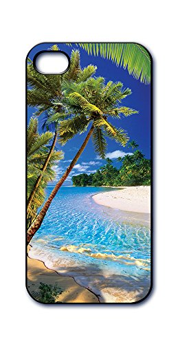 Dimension 9 Slim 3D Lenticular Cell Phone Case for Apple iPhone 5 or iPhone 5s - Tropical Beach and Palm Trees (Iphone 5s Palm Tree Case)