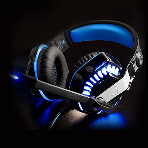 2017-Newly-Updated-Gaming-Headset-MFEEL-GM-2-Computer-Over-Ear-Stereo-Heaphones-With-Microphone-Noise-Isolating-Volume-Control-LED-Light-For-PC-MAC-Xbox-One-Xbox-2-PS4Mobile-Phones-BLACKBLUE